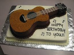 guitar cake topper guitar birthday cake creative ideas