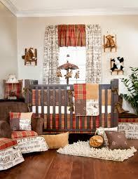 brown beige vintage baby nursery bedding animal decor wooden