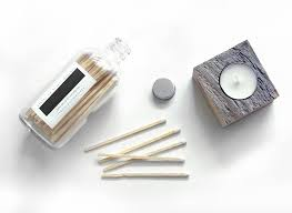 white 4 candle matches in a jar classic white wooden