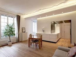 am agement salon cuisine faux plafond cuisine le design dun dans salon d pour newsindo co