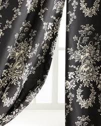 Black And White Curtain Designs Luxury Curtains U0026 Curtain Hardware At Neiman Marcus