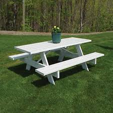 Round Redwood Picnic Table by Shop Picnic Tables At Lowes Com