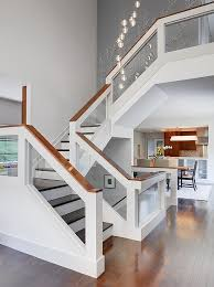 Staircase Ideas For Homes Modern Three Storey Home With A View In Cincinnati Ohio