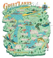 Lake Erie Map The 16 Best Small Boat Fishing Spots On The Great Lakes Outdoor Life