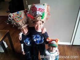 wacky paper bag hat craft idea to celebrate dr seuss mommypalooza
