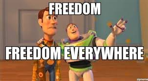 Patriotism Patriotism Everywhere Buzz And Woody Meme - buzz lightyear everywhere meme generator 28 images fire fire