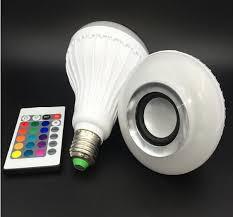 bluetooth music light bulb bluetooth music e27 intelligent light bulb with 24 keys remote