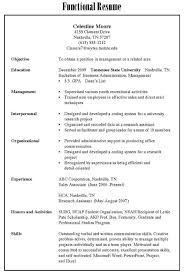 different resume types different types of resumes exles resume for study