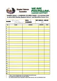 form for charity