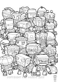 250 coloring music robots mechanical images