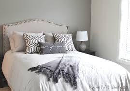 bedroom with south west exposure painted in gray to accommodate