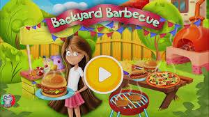 kids barbecue party children cook pizza dogs and play fun
