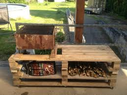 Bbq Tables Outdoor Furniture by Wooden Pallet Bbq Grill Table 101 Pallets