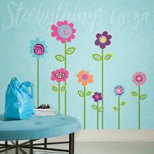 flower garden wall sticker u2022 stickythings wall stickers south africa