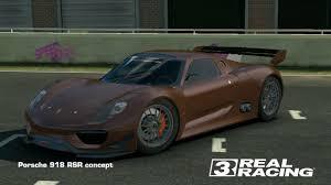 porsche 918 rsr real racing 3 porsche 918 rsr concept youtube