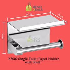 vumn stainless steel single toilet paper holder with shelf x3009