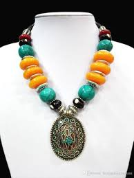 tibetan silver turquoise necklace images 2018 18 39 39 ethnic pendant chunky necklace tibet silver bright amber jpg