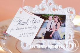 custom wedding favors thank you for in our day custom wedding favor tag