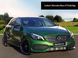 green mercedes a class mercedes benz a class a 200 d amg line premium plus green 2017