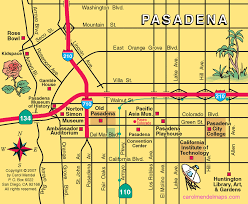 pasadena zip code map map of pasadena ca zip codes my