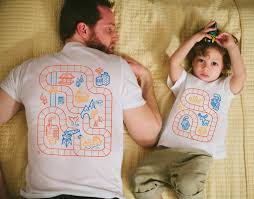Gift For Dad by Father Son Matching Shirts Train Track Shirts Father U0027s