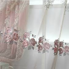 Gray And Pink Curtains Pink Chenille Jacquard Living Room Curtains