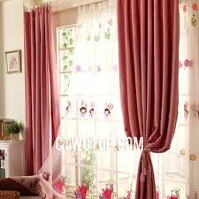 Blackout Curtains For Girls Room Red Simple Children Room Cute Stylish Beautiful Heavy Blackout