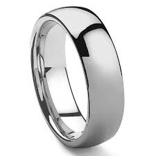 wedding bands rochester ny hamon tungsten carbide men s plain dome wedding band
