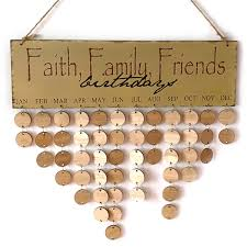 faith family friend diy wooden wall hanging decor birthday