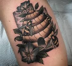 tattoo meaning hard work bee tattoo meaning honeycombs hives hornets and more ink vivo