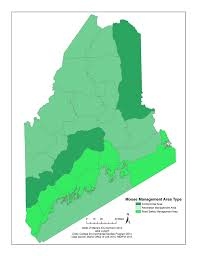 Maine State Map by State Of Big Game Species State Of Maine U0027s Environment 2014