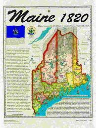 Maine State Map by Statehood Maps