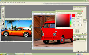 manipulating the color of an automobile in photoshop