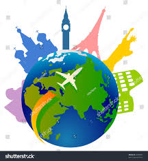royalty free plane traveling around the world and a 73959601 stock