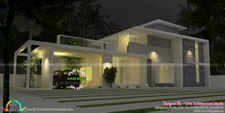 215 square feet in meters 4 bedroom true flat roof contemporary house kerala home design