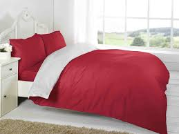 red white plain colour reversible two tone complete bed sets