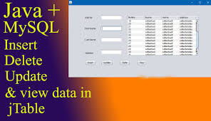 tutorial netbeans y mysql how to insert delete update and display data in jtable with