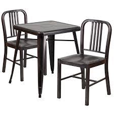 B Q Bistro Chairs Metal Patio Furniture Vertical Slat Back Chairs Restaurant