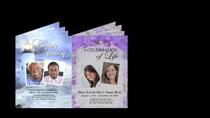 funeral booklets printable large tabloid funeral programs booklets