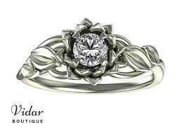 lotus flower engagement ring lotus flower engagement ring with leaves vidar boutique vidar