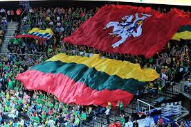 Flag Of Lithuania Picture File Lithuania And Historical Vytis Flags During Eurobasket 2011