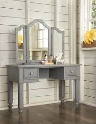 Corner Makeup Vanity Set Bedroom Vanity Table With Lighted Mirror Modern Dressing Table