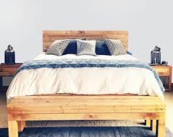 original aged cedar barn wood style bed frame u0026 headboard set