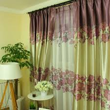 Olive Colored Curtains Purple And Green Curtains Of Cotton And Poly Blended Materials