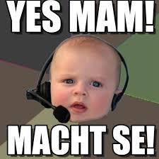 Support Meme - yes mam kid phone support meme on memegen