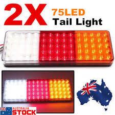 led tail lights for a trailer 2x led tail light truck ute trailer stop indicator lights 12v