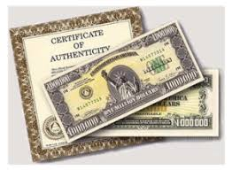 free novelty million dollar bill sample by mail cha ching on a