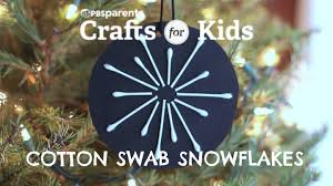 cotton swab snowflakes crafts for pbs parents