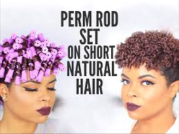 natural hair perm rod set on short hair no heat youtube