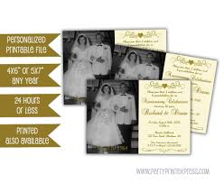 printable ivory 50th anniversary invitations 50th wedding